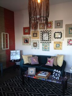 Delta Girl Distressed Frames Gallery wall