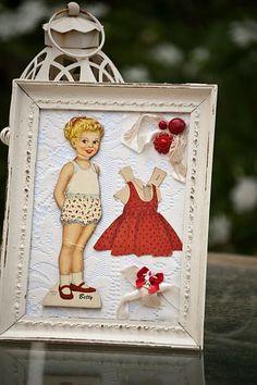 idea: framed paper dolls