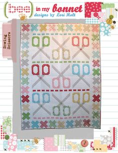 "Sewing Scissors by Lori Holt pattern for 54""x72"" Quilt $14.00 on Etsy at http://www.etsy.com/listing/114815758/sewing-scissors?ref=shop_home_active"