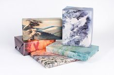 etsy: Mountain Range Wrapping Paper by Norman's Printery.