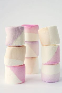 DIY Color dipped marshmallows