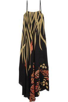 Printed silk maxi dress by: Chloé