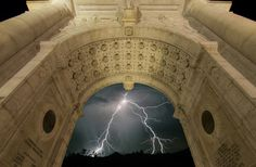 Lightning in Arch by Todd Wall