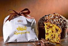 The traditional panettone proposed in an irresistible variation: with flakes of dark chocolate and hazelnuts from Piedmont // #singapore #christmas #italy