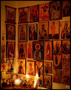 icon corner (cloud of witnesses/so many holy friends).