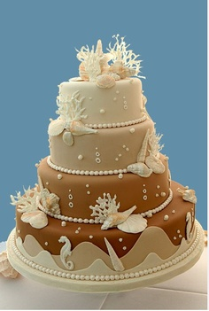 Beach wedding cake...awesome