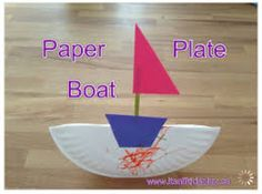 Paper plate boat!