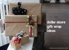 5 Dollar Store Gift Wrap Ideas