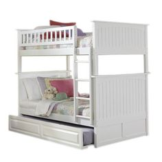 Nantucket Bunk Bed with Trundle in White