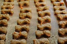 For your pups: Homemade Peanut Butter  & Carrot Dog Bones