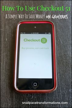 Checkout 51 is a simple to use app that will save you money on groceries, and not just processed foods but whole foods as well. You don't even have to have a smartphone to use it.