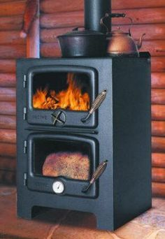 Wood stove and baking oven - all in one.  want one!
