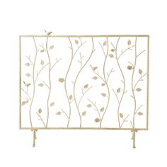Abbey Antique White Fireplace Screen | Overstock.com
