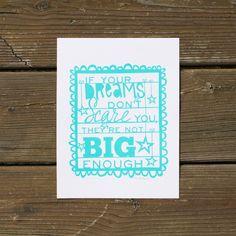Big Dreams Silkscreen Print - Bermuda by Lori Danelle