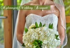 | Beautiful Hydrangea DIY Wedding Bouquet for less than $40 | http://sewlicioushomedecor.com