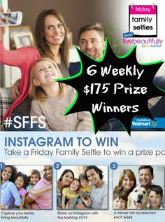 """""""Like"""" if you want to win a $175 Prize Package from Suave Beauty?  Take a Suave Friday Family Selfie #SFFS to enter (it's easy):  http://freebies4mom.com/familyselfie  #ad  Plus every entry gets a $1.00 Suave #Coupon"""