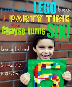 Boy lego party!  Love the number idea!!