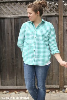 teal checked archer shirt by cino