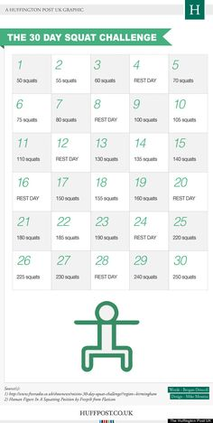 30 day squat challenge... oh why not?
