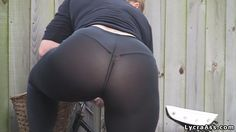 women in see through lycra. Sexy ass arse butt bottom woman in sheer leggings pants tights and thong.