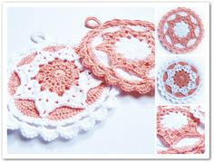 I am increasingly gaining appreciation for the utilitarian #crochet potholder and the beauty it can offer to the home!