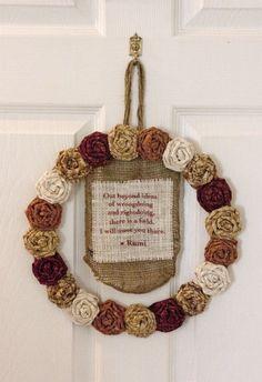 Rosette Quote Wreath