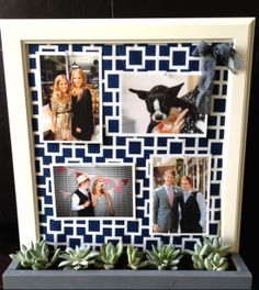 mint love social club: diy corkboard in planter