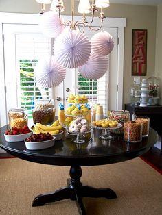 A cereal party! savori recip, birthday parti, parties, breakfast bar, cereal parti, breakfast parti, cereals, parti idea, cereal bar