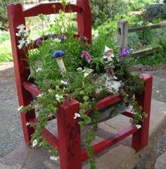 Fairy Garden Chair! How cute is this?