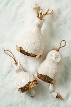 Owl Bell Ornament | Anthropologie
