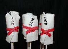 Diploma Cake Pops