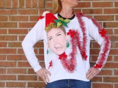 Ugly DIY Christmas sweater with Miley!