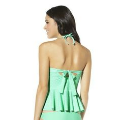 Xhilaration® Junior's Peplum Swim Top -Assorted Colors