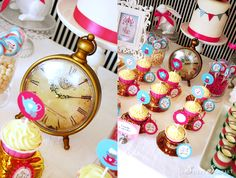 mad tea, tea parti, hatter parti, mad hatter tea, birthday parties, teas, alice in wonderland, parti idea, clocks