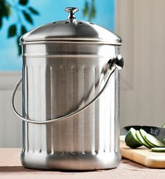 """Our Kitchen Compost Crock is the perfect gift for your favorite """"greenie."""" Now 20% off the regular price!"""
