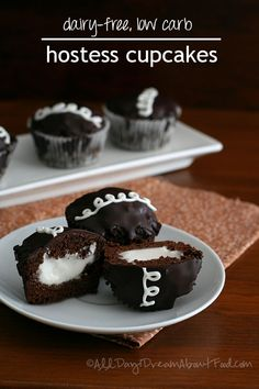 Low Carb Dairy-Free Hostess Cupcakes Recipe | All Day I Dream About Food