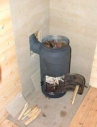 Печь для бани из газового баллона своими руками