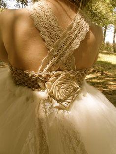 Beautiful Champagne Elven Dress $100
