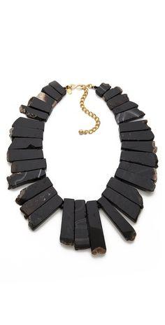 Kenneth Jay Lane Agate Graduated Stone Necklace | SHOPBOP