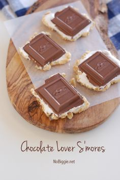 Chocolate Lover Smores | NoBiggie.net