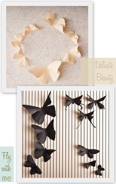 3D butterfly paper art