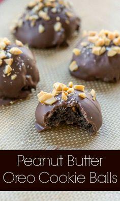 Peanut Butter Oreo Cookie Balls | @Kate Mazur Mazur Uhl Dean | i heart eating |  #oreocookieballs