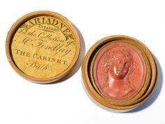 Antique Ariadne Intaglio Wax Seal Impression  ADMIRAL SIR JOSEPH NIAS in Box