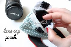 DIY lens cap pouch...another take on the project that I really need to get completed