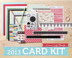 July 2013 Card Kit from Simon Says stamp.