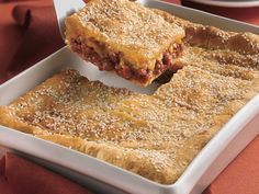 Sloppy Joe Squares...with cheddar cheese and buttery crescent rolls.  Yum!  New take on the traditional sloppy joe!