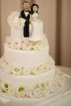 how to make a sitting bride and groom cake topper