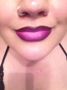 I used; nightmoth lip pencil, heroine and nicki2 lipsticks. #ombre #lips #mac