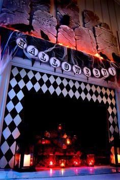 50 great Halloween mantel Decorating ideas: http://www.digsdigs.com/50-great-halloween-mantel-decorating-ideas/