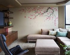 offic decal, decal cherri, tree decal, wall decals, blossom trees